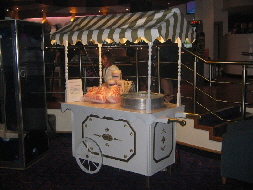 One of our candy floss carts pictured at a recent casino opening