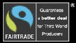 the fairtrade symbol, guaranteeing a better deal for the third world.