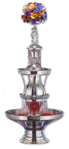 One of our high quality hand made and polished stainless steel drinks fountains